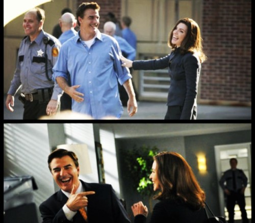 Behind The Scenes of The Good Wife Daw Peter and Alicia