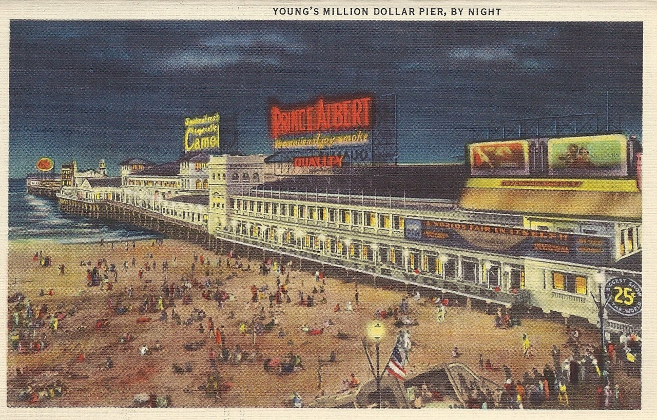 Young's million dollar pier, by night