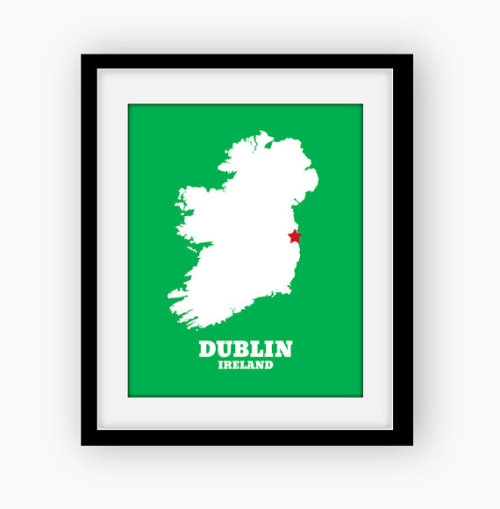 Ireland Custom Map on Etsy