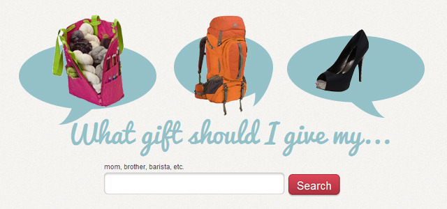 Crowdsourced gift ideas based on the recipient's interests   Retailers have been trying to make it easier for gift-givers to find that perfect present for a while and we recently reported on UK-based 15gifts, which uses a proprietary search engine to help users choose from among a curated selection of unique gifts. Now No Sweaters in the US is enabling gift-givers to get personal recommendations from other users based on the interests of the person receiving the gift. READ MORE…