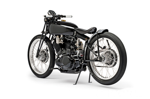 Jeff Decker's 1952 Vincent Black Lightning | Silodrome When it comes to customising Vincent motorcycles, bike builders have to walk a very fine line. One misstep and they'll have thousands of pitchfork wielding moto-purists beating down their door baying for blood. This particular 1952 Vincent Black Lightning is a great testament to what can be achieved with classic Vincents, it was built by Jeff Decker and his uncle in 2010, they based the bike on a HVG (Harris Vincent Gallery) chassis and used a stack of parts left over by Vincent legends Rollie Free and Marty Dickerson.