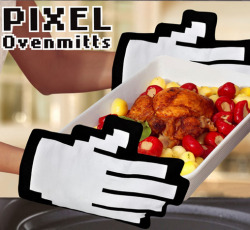 pixel oven mits check them out here