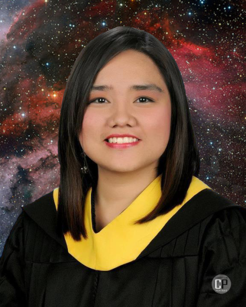 Cos I`m a Tumblr girl, here`s an obligatory graduation photo of myself with a star/galaxy hipster-ish background. HAHAHAH.