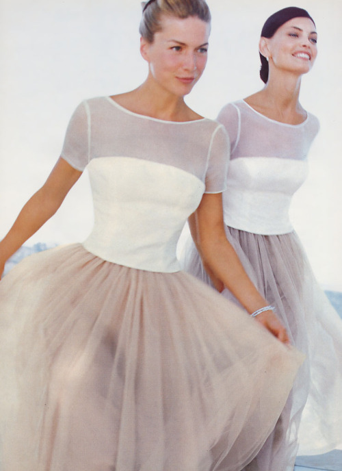 80s-90s-supermodels:  Waters & Waters S/S 1999Models : Gretha Cavazzoni & Unknown