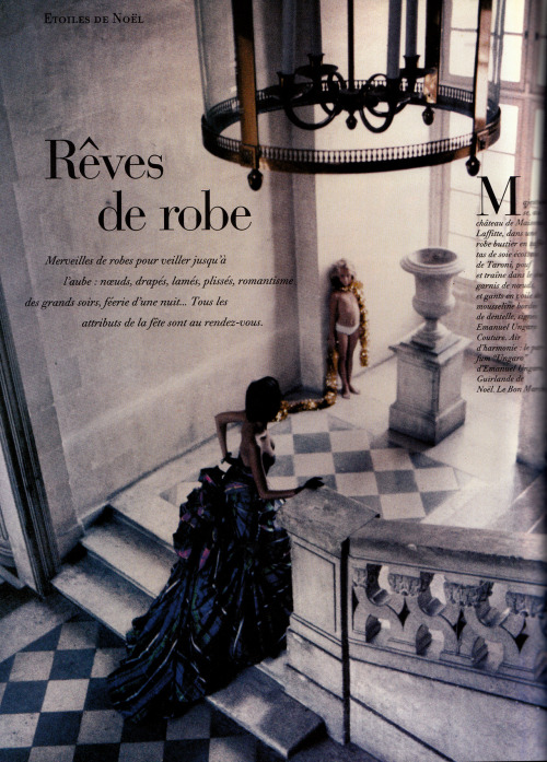"80s-90s-supermodels:  ""Reves De Robes"", Vogue France, December 1991Photographer : Dominique IssermannModel : Heather Stewart-Whyte"