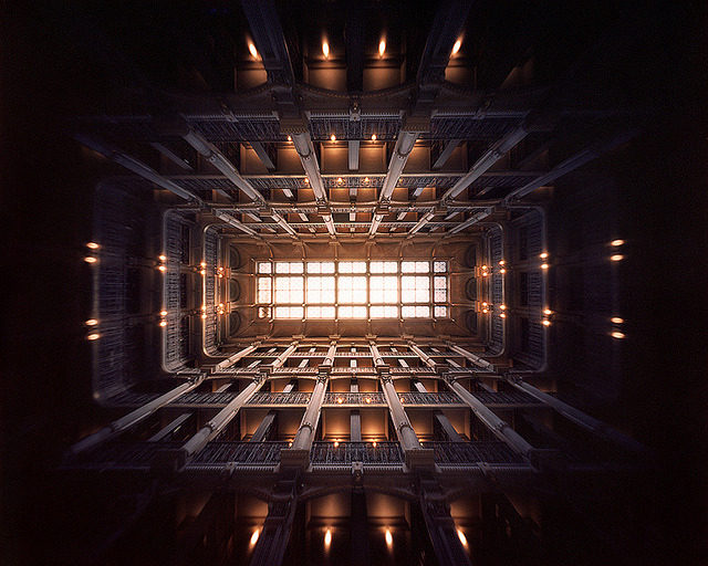 Library Ceiling (4x5 Pinhole Photograph) by integrity_of_light on Flickr.