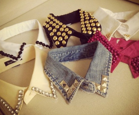 Sharing the love for the peter pan collars, they are so stylish must have