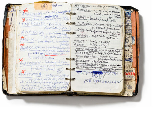 wicked-nes:  from Nick Cave's Handwritten Dictionary of Words, 1984