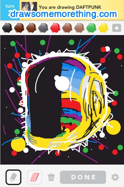 DAFTPUNK - http://drawsomemorething.com Source - Andrew S. #drawsomething