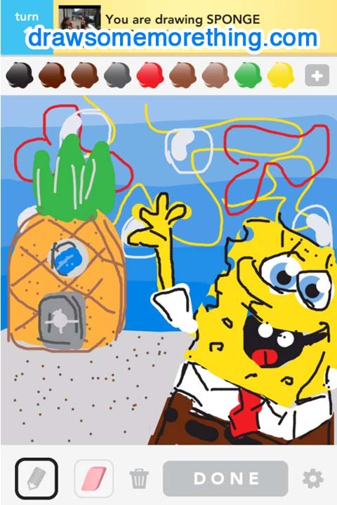 SPONGE- http://drawsomemorething.com Source - Andrew S. #drawsomething