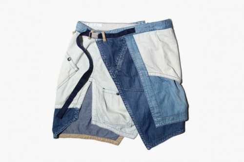 wilburandco:  Denim apron shorts.  I wonder how usable all the pockets are.  Wondering how many of my guy friends would wear these? Hmmm…