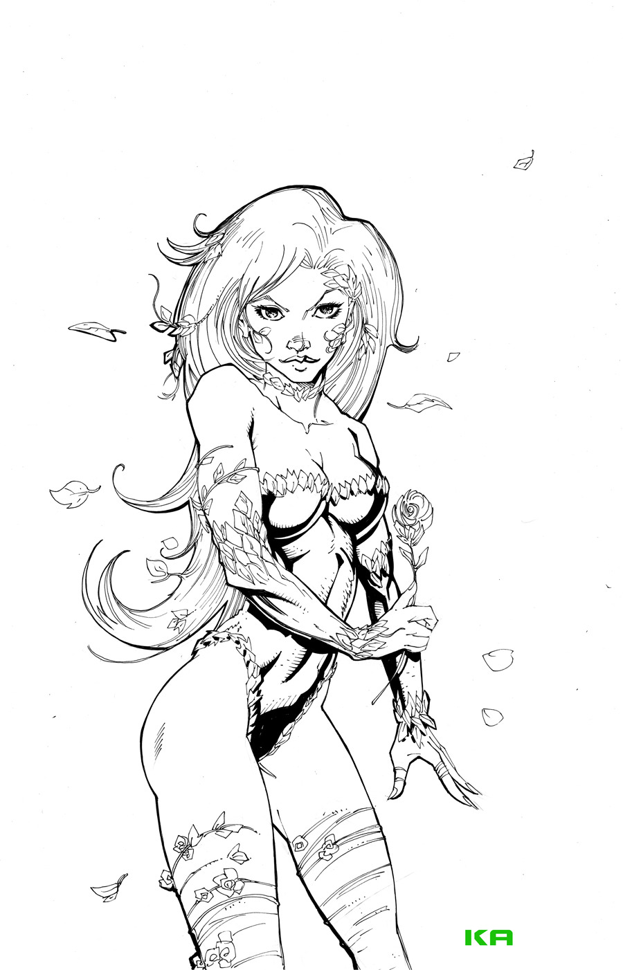 powerdrain:  Poison Ivy Commission by *KomicKarl