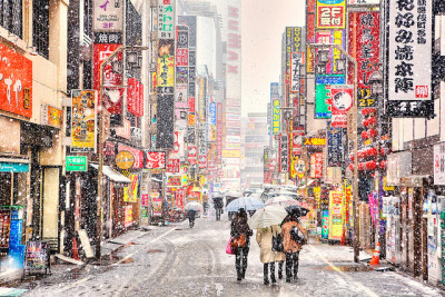 Kabukicho Snow by tokyofashion on Flickr.