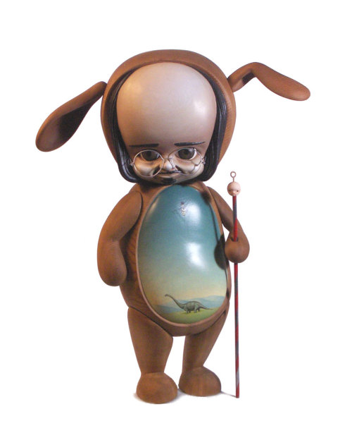 "fuckyeahmarkryden:  Mark Ryden, by Michael Leavitt. (Articulating Wooden Statue, 22""/50cm).  Tumbled on TumTum ♻"