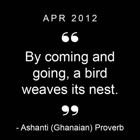 Proverb of the Month: April 2012