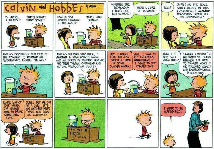 danielextra:  Calvin and Hobbes Breaks Down American Corporate Capitalism I love this so much I can hardly stand it.   Ha