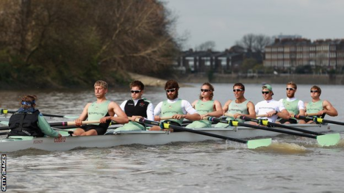 Boat Race 2012 airs LIVE on Saturday at 8:45am ET on BBC AMERICA   Live coverage of the annual rowing battle along London's River Thames between the competing eights of Oxford and Cambridge universities. The first race took place in 1829, and has been held every year since 1856.