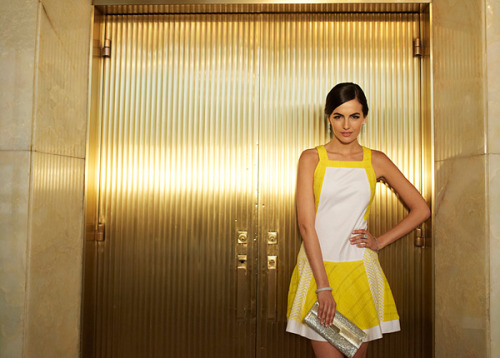 fashionetcnow:  Mello Yellow: Cotton Inc. has tapped Camilla Belle as one of their new spokesladies. To see the other -and more excellent designs- head here.
