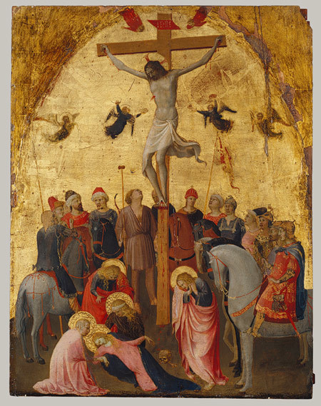 Fra Angelico - The Crucifixion, 1420. Tempera on panel