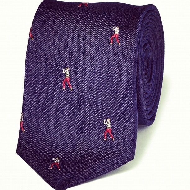 Prepare for battle in the boardroom with this embroidered boxer tie by J.CREW, new on site this week
