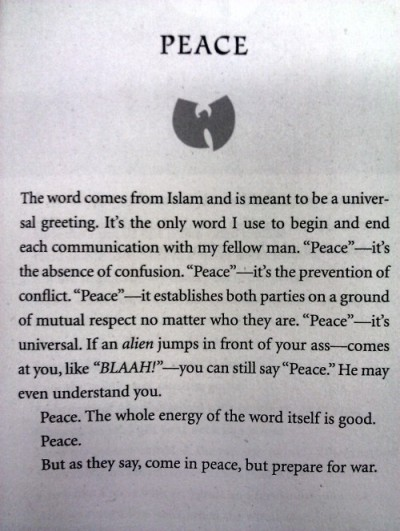 From The Tao of Wu, by Rza. I once interviewed him for my college newspaper—super nice, smart guy.