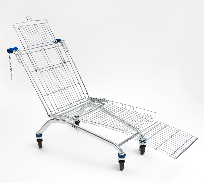 mini-mal-me:  mike bouchet: shopping cart lounger