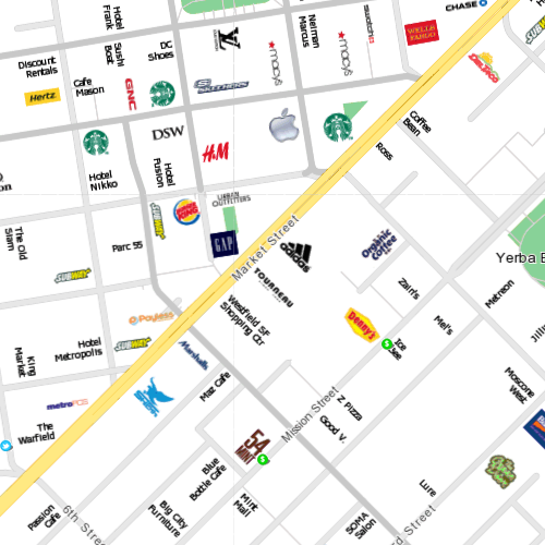 Citymaps. Fast Co Design:  CityMaps is a view of New York City, Austin, and San Francisco through its logos alone. Rather than using satellite images, Street View, or legends for schools and restaurants, the map uses branding in its purest form — along with offers for all sorts of corresponding coupons — to help you discover somewhere you'd like to go.  (via)