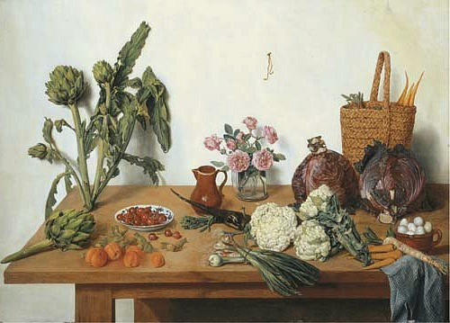 Jan Josef Horemans II Fruits and Vegetables on a Table 1773