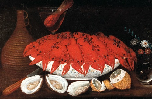 Johann Seitz Crayfish in a Porcelain Bowl 1801