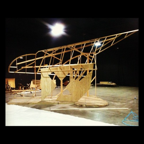 Set building for Crescent City @ Atwater Crossing warehouse (Taken with instagram)
