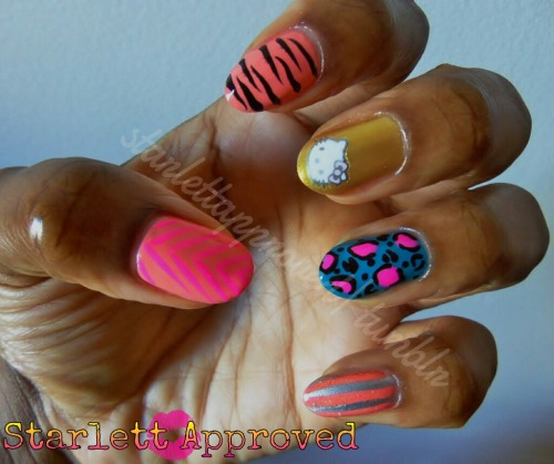 My homage to my B4L Mel of Pretty Nail Swag.  The Dopest Chick on Tumblr! My sis up North, I love ya.  Pretty Nail Swag was the first tumblr I found before I started mine and I remember just staring with eyes wide open like a kid on Christmas morning.  I wanted my nails swagged out (still do)! She is a huge inspiration to me, even her most simple designs make me drool.  Mel is even more amazing than her nails. She is one of the nicest, coolest people you'll ever know. She's fam to me! (wouldn't be surprised if you're a cousin from my mothers side lol)Love You Mel and Keep the Swag Coming!!!