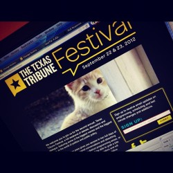 Little preview. I know this makes you wanna go to @TribFest. (Taken with instagram)