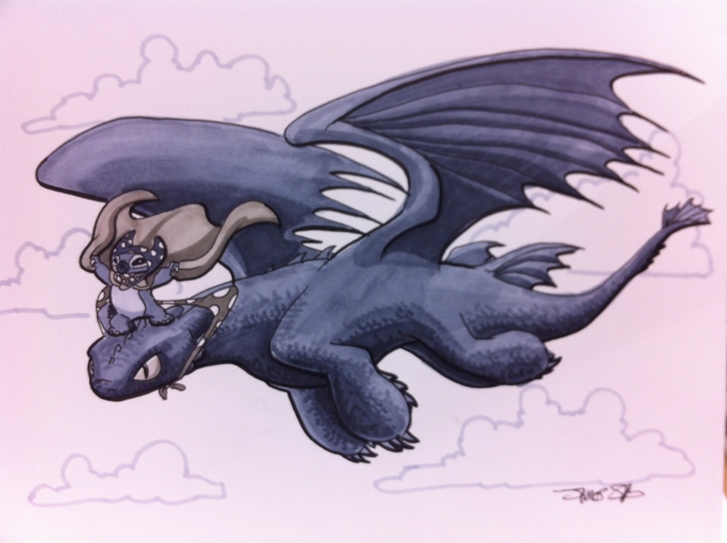 silvaniart:  ECCC commission- Danananananana TOOTHLESS!