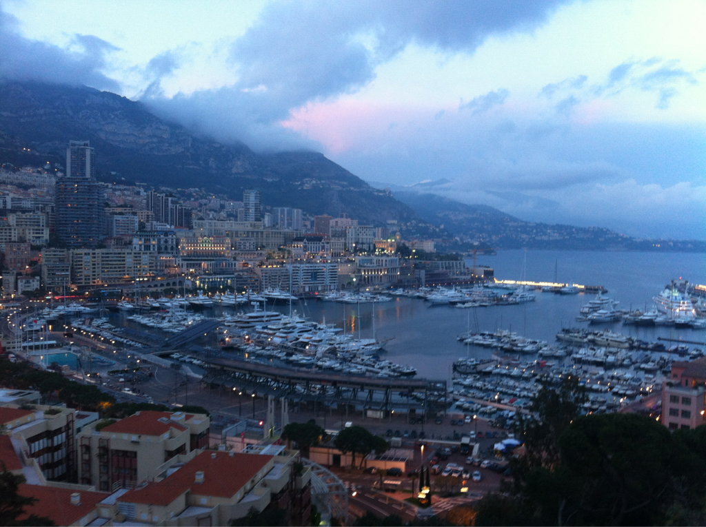 Monaco harbor, where millionaires park yachts.