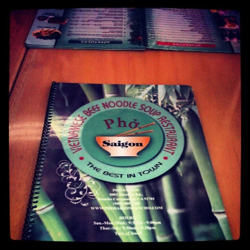 Lunch date with @jess_mireles !! Phó! (Taken with instagram)