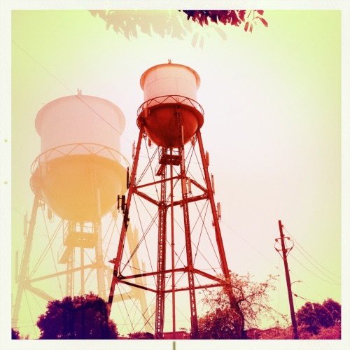 Emeryville Water Tower Salvador 84 Lens, Alfred Infrared Film, No Flash, Taken with Hipstamatic