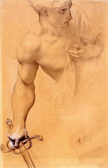 Angel, Study for the Lost Paradise, 1863-1867, Alexandre Cabanel. French Academic Painter (1823 - 1889)
