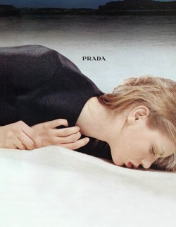 petrole:  angela lindvall for prada fall winter 1998/99 ad campaign