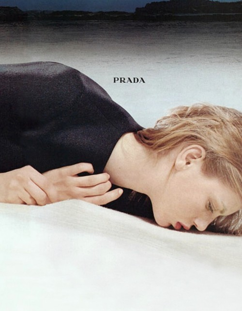 angela lindvall for prada fall winter 1998/99 ad campaign