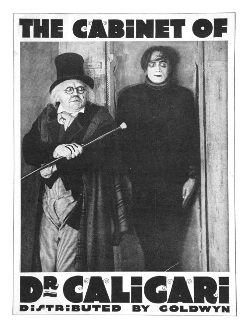 "100/365 ""The Cabinet of Dr. Caligari"" directed by Robert Wiene, starring Werner Krauss, Conrad Veidt, and Friedrich Feher.  From Netflix:  In this silent 1920s masterpiece, an insane asylum inmate explains to his psychiatrist how he came to the institution, telling the shrink the story of the evil hypnotist Caligari (Werner Krauss) and his unwitting pawn, the sleepwalker Cesare (Conrad Veidt). This stark expressionist film from German director Robert Wiene astonishes with the power of its sets and visuals, and the creepy plot easily raises hackles on the back of one's neck.  Woah, what a fantastic score! My ears thoroughly enjoyed the silent film, though my eyes weren't very happy about the font for the reading cards. How ugly and themed, they took away from the atmosphere and for that, I curse those who redid the dialogue backgrounds. Still, the movie was fantastic. The sets were just…beautiful, truly beautiful. I'm not sure if I felt it was creepy…other than Krauss' face as Caligari. Still, I can appreciate it and how it's one of the most influential silent films, as such an early horror and art piece.  I give it a 4 out of 5."