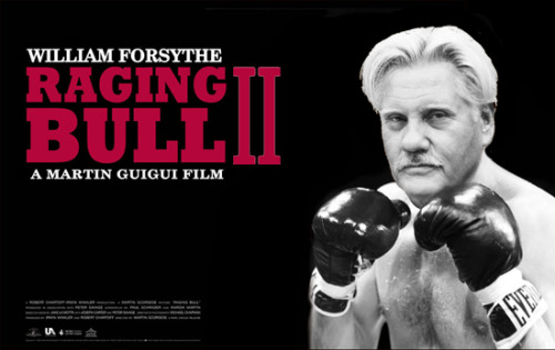 WTF! Here's a poster for Raging Bull 2, director Martin Guigui's attempt to cash in on one of Scorsese's masterpieces. At least, it's based on a book written by Jake LaMotta himself (when he was trying to cash in on his own biopic). Who knows, maybe in the future Martin Guigui could direct Taxi Driver 2, Goodfellas 2 and Kundun 2: The Rise of the Dalai Lama.