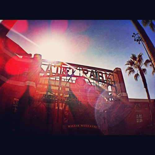 One week away #sfgiants #insidesfg #iphoneography #instagram #baseball #sun  (Taken with instagram)