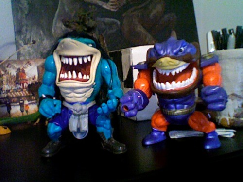 Went to buy big-boy clothes for work… ended up buying Street Sharks instead. I just wish he had his guitar :(