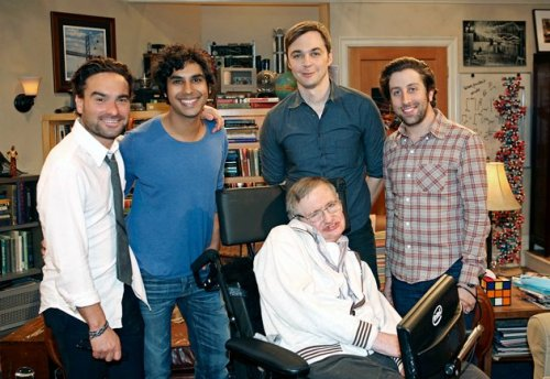 The 'Big Bang Theory' Geeks Meet Stephen Hawking   This week's plot finds Wolowitz getting the chance of a lifetime: to work with Hawking. Sheldon is a huge Hawking fan and is willing to do anything to meet his idol.