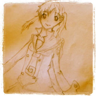 Maka albarn, soul eater, anime, drawing