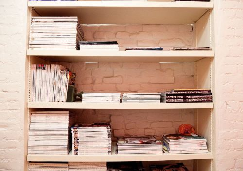 built-in bookshelves (via theselby)