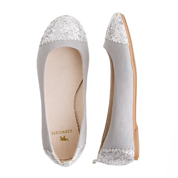 [Girls' Glitter Toe Ballet Flats by J. Crew]
