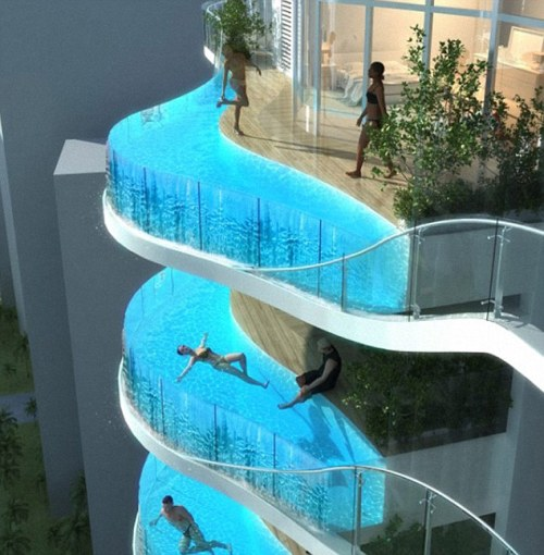 Mumbai skyscrapers with Swimming Pools instead of Balconies