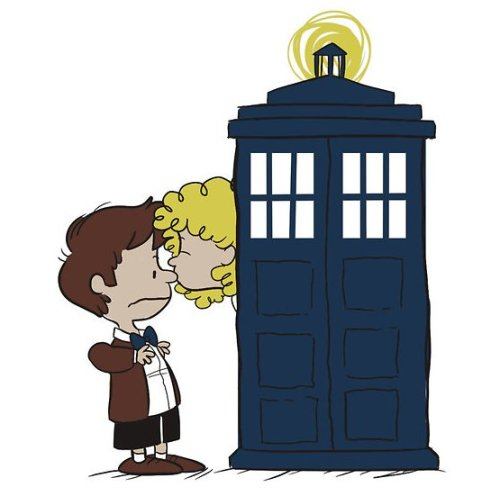doctorwho:  Doctor and River Peanuts Style becks28nz:  by aninhat-t