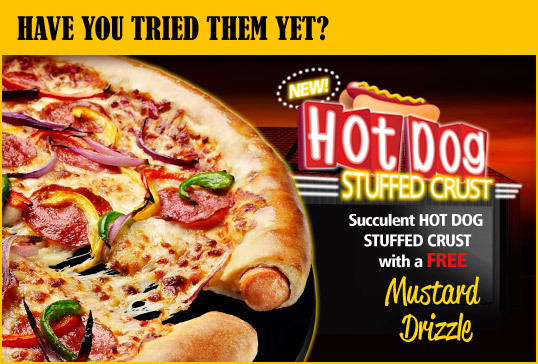 "beeroast:  cajunboy:  Pizza crust stuffed with hot dogs. Western civilization is officially a parody of itself.  when i was in thailand we made it to a pizza place in bangkok, first i had seen in the 3 weeks i was there.  their ""all-american"" pizza was barbeque chicken with an assortment of meats and hot dog stuffed crust. yes. this is how the world views americans.   I want this pizza more than any other pizza that I've ever wanted."